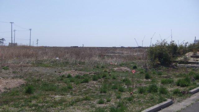 町が消えてしまって、土台だけが残った
