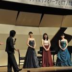 ヴァイオリンとハープとピアノの競演